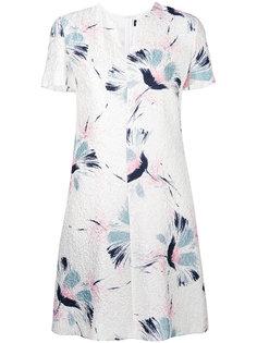 платье-футболка с цветочным принтом Giorgio Armani