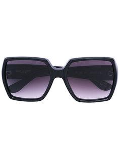 классические объемные солнцезащитные очки Saint Laurent Eyewear