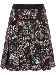 юбка с цветочным принтом Self-Portrait