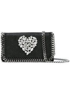 сумка с принтом сердца из кристаллов Stella McCartney