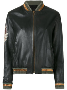 куртка-бомбер  с контрастными панелями  Mr & Mrs Italy