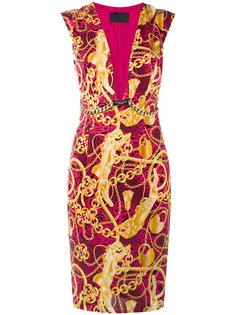 платье шифт с цепочным принтом Philipp Plein
