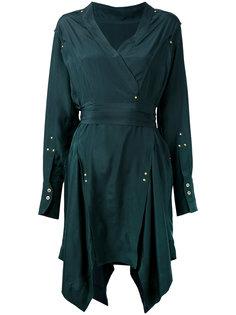асимметричное платье с запахом Isabel Marant
