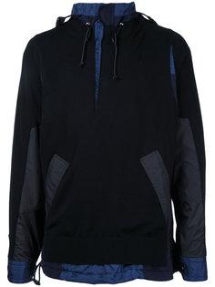 легкий вязаный свитер-куртка с капюшоном Sacai