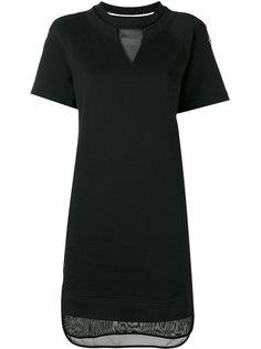 платье-толстовка с сетчатой панелью Moncler