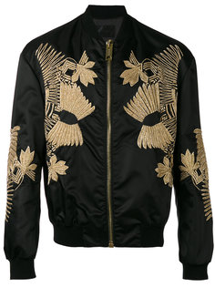 куртка-бомбер с вышивкой Les Hommes