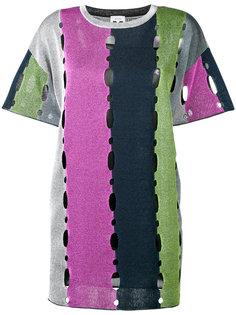 платье с короткими рукавами и вырезом M Missoni