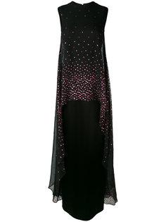 декорированное длинное платье  Talbot Runhof