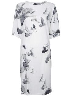 платье с принтом птиц A.F.Vandevorst