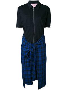 платье-рубашка с клетчатой юбкой Alyx