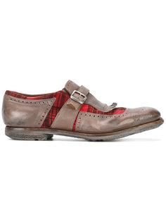 туфли монки с клетчатыми вставками Churchs Churchs