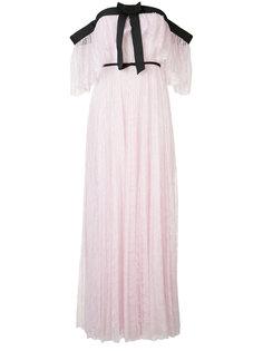 плиссированное кружевное вечернее платье Giambattista Valli