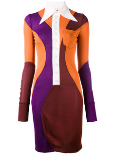 платье дизайна колор-блок Givenchy