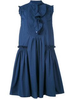 платье шифт с оборками Moncler