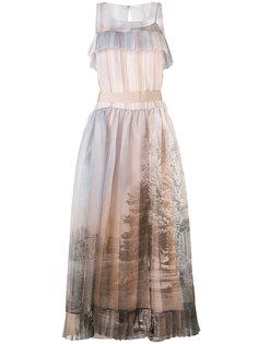 платье с принтом деревьев Fendi