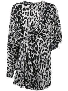 платье Abito с леопардовым узором Saint Laurent