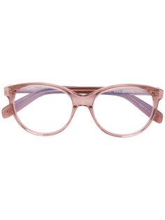 очки с овальной оправой Saint Laurent Eyewear