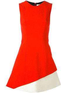 платье дизайна колор-блок Fausto Puglisi