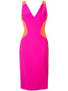 платье-мини без рукавов дизайна колор-блок Mugler