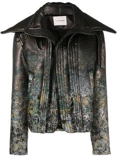 байкерская куртка с цветочным узором A.F.Vandevorst