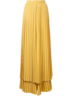 плиссированные многослойные брюки Sara Battaglia