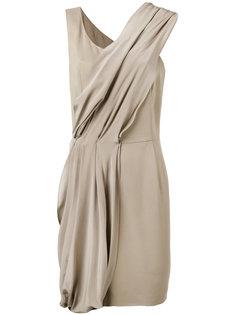 платье с диагональной драпировкой D.Exterior