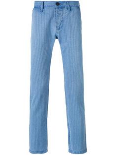 полосатые зауженные брюки  Edwin