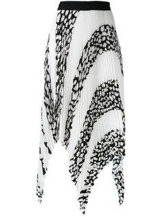 плиссированная асимметричная юбка  Proenza Schouler