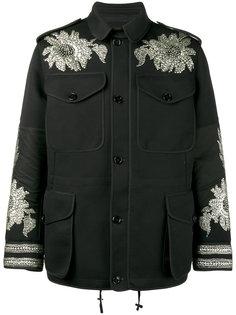 куртка с вышивкой из пайеток Alexander McQueen