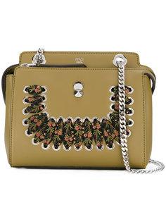 жесткая сумка с декором из шарфа Fendi