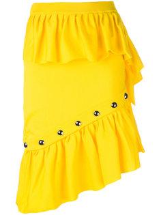 юбка с оборками и заклепками Marquesalmeida Marquesalmeida
