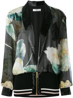 куртка-бомбер с принтом Lanvin