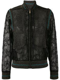 куртка-бомбер  с кружевными панелями Elie Saab