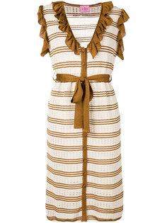 полосатое вязаное платье Denia Denia