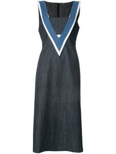 джинсовое платье  Adam Lippes