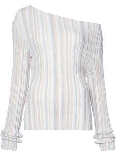 свитер с открытыми плечами Jacquemus