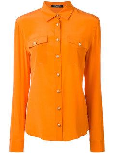 рубашка на пуговицах с нагрудными каррманами Balmain