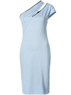 облегающее платье на одно плечо Mugler