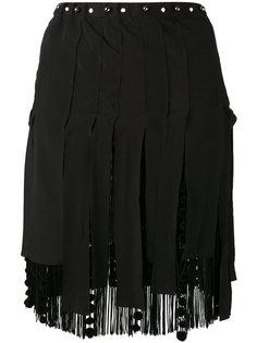 мини-юбка с бахромой Nº21