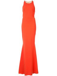 платье с украшением из бусин на спине Marchesa Notte