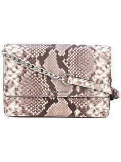 сумка Daniela с эффектом змеиной кожи Michael Michael Kors