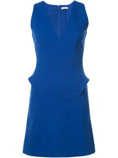 платье-шифт с V-образной горловиной Mugler