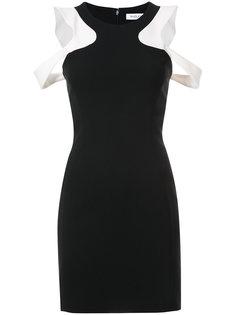 платье с вырезами на плечах Mugler
