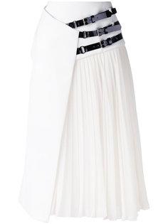 юбка с ремешками сбоку Lanvin