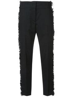 строгие брюки с бахромой по бокам  Derek Lam
