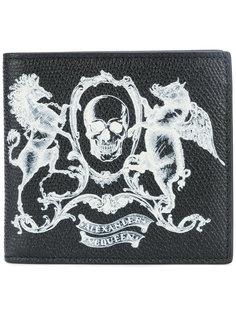 кошелек с гербом-черепом Alexander McQueen