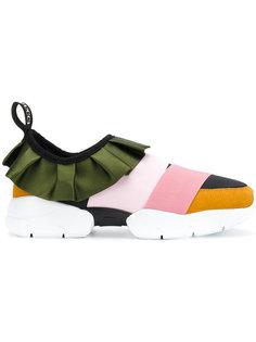 кроссовки без застежки с отделкой оборками Emilio Pucci