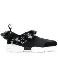 кроссовки с накладными пайетками Emilio Pucci