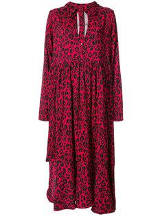 платье с капюшоном и леопардовым принтом Barbara Bologna