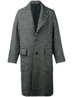 пальто в ломаную клетку Ami Alexandre Mattiussi